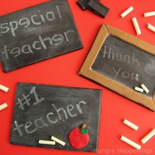 Treat your favorite teacher to a chocolate chalkboard for teacher appreciation week. HungryHappenings.com