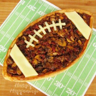 Madeira Mushroom filled Football Tart – Super Bowl Food
