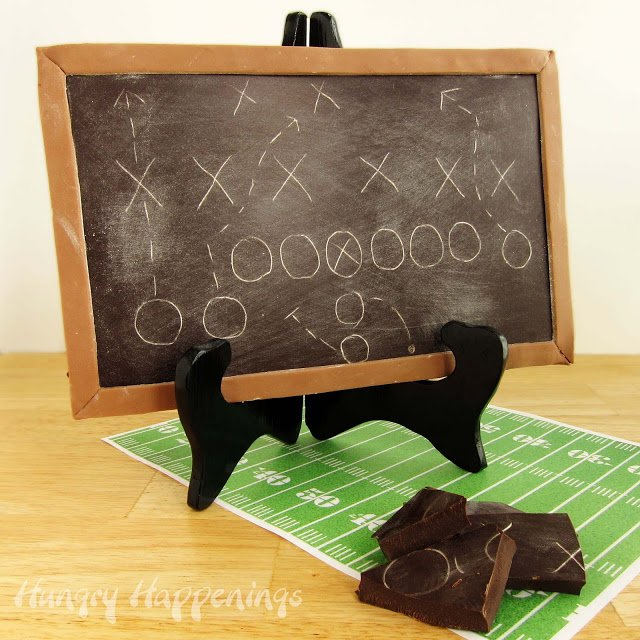 Draw up the plan for your party on this Chocolate Game Plan Chalkboard and be in complete control of your food display. No need for there to be any penalties thrown on a nasty dish!