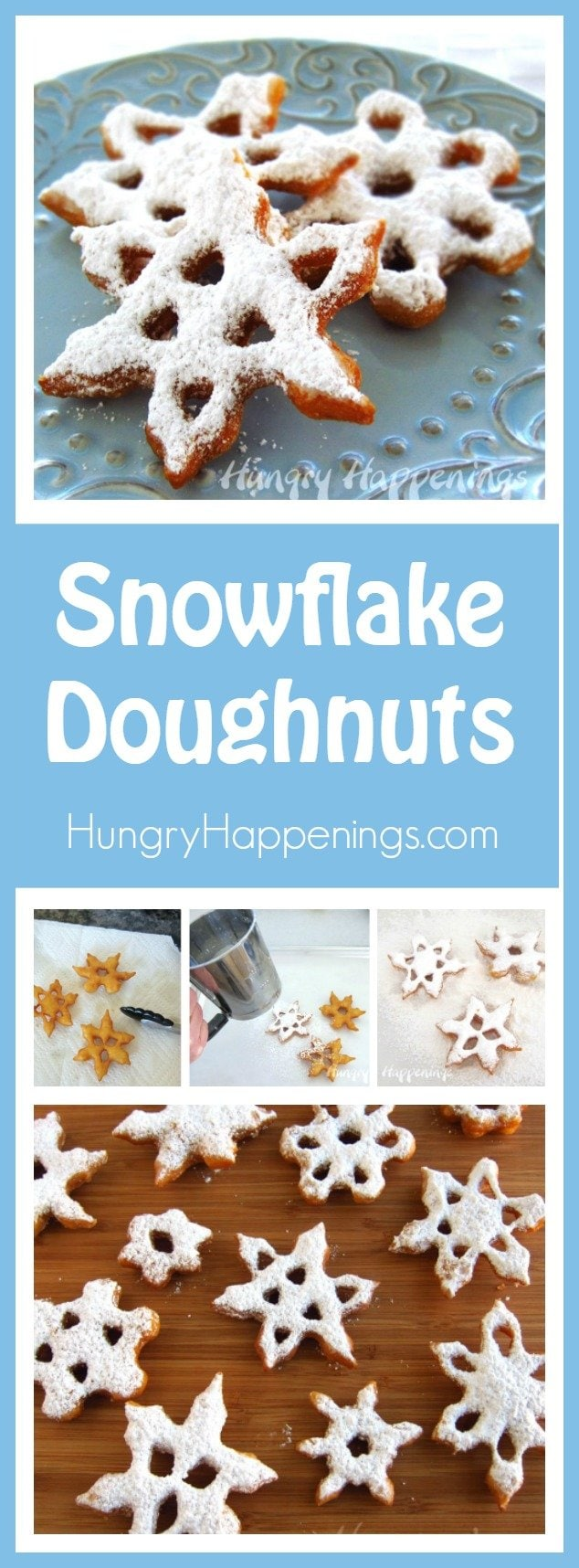 Turn store bought dough into beautiful Sweet Snowflake Doughnuts. They will warm and fill you up on a snowy winter's day and make a festive breakfast for Christmas morning.
