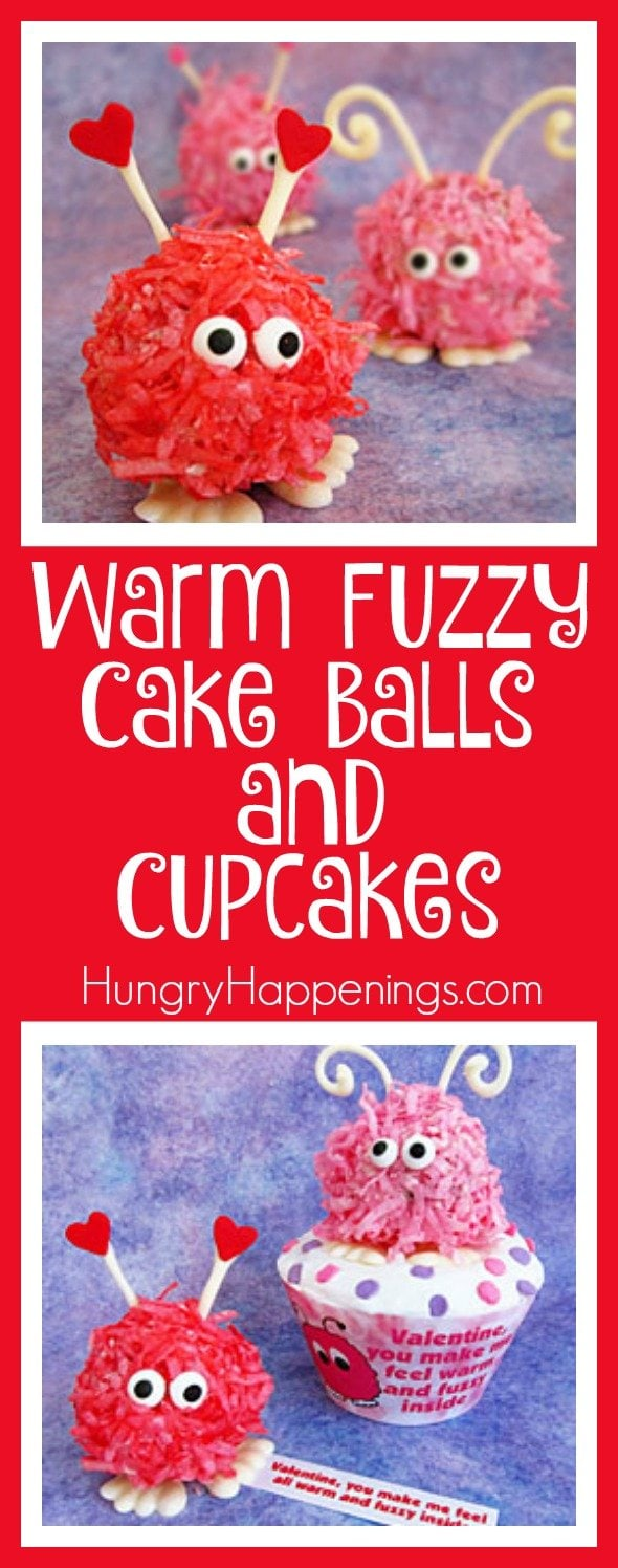 Personally, these Warm Fuzzy Cake Balls and Cupcakes are some of the cutest things I've ever made. Not only are they adorable, they are made of delicious cake that will definitely win over the heart of anybody you give them to.
