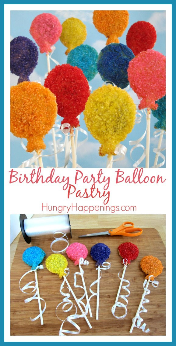 Theres no better way to say Happy Birthday than by making these Birthday Party Balloon Pastry Pops! Have fun creating these with any color you'd like and have even more fun eating them up!