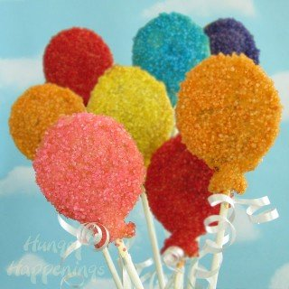 Birthday Party Balloon Pastry Pops