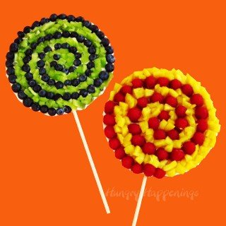 Swirly Pop Fruit Pizzas would be a great addition to any party.