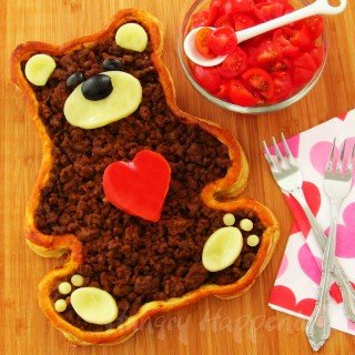 Teddy Bear Taco Tart- Valentine's Day Dinner