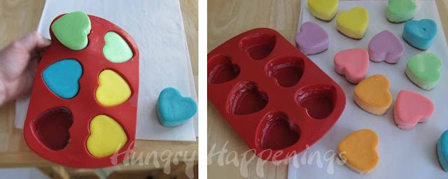 wilton silicone heart mold conversation heart cheesecakes