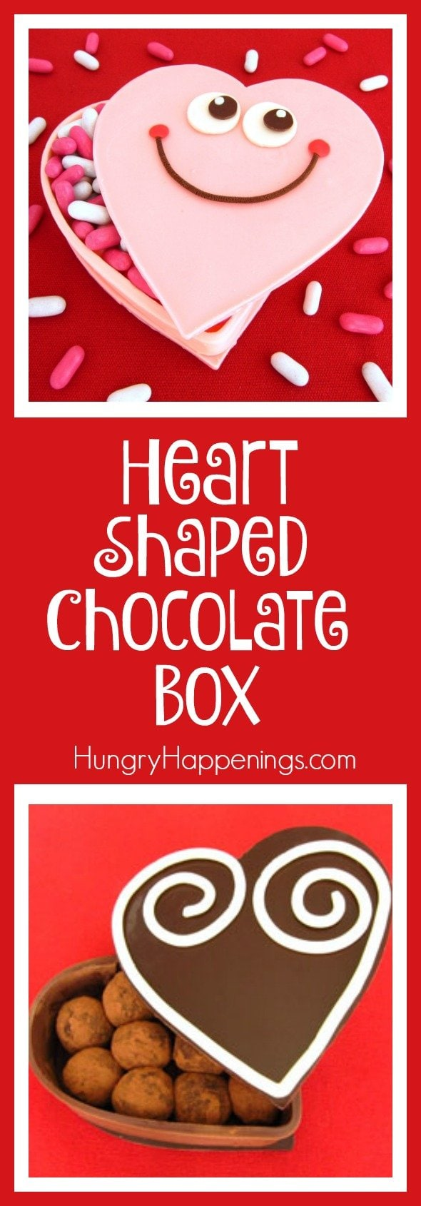 Store your candy inside a container that you can eat afterwards. Brilliantly Delicious! This Heart Shaped Chocolate Box make great gifts for Valentine's Day or any day!
