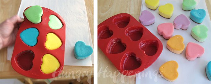 How to make heart shaped cheesecakes.