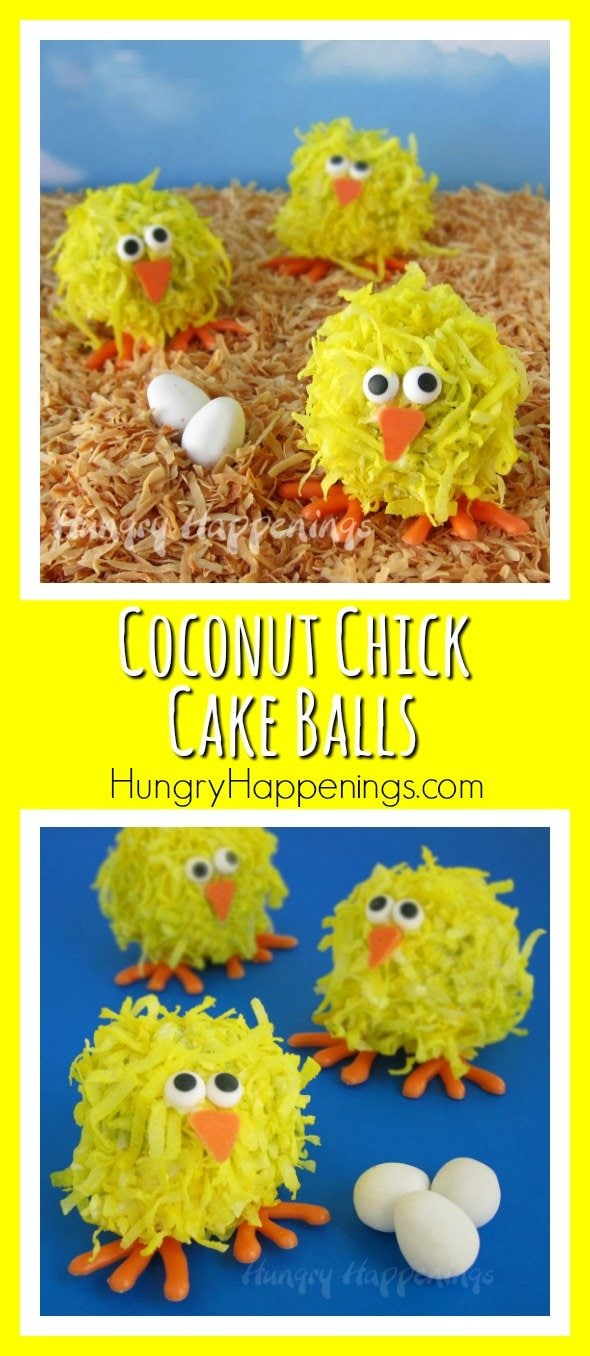 If you love cake balls you have to make these Coconut Chick Cake Balls for Easter! They are so cute and so delicious, you won't be able to get enough!