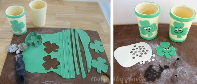 If you're looking for a sweet cold treat to have on St. Patrick's Day make these Smiling Shamrock Shakes! Your kids will love these cute treats and they're easy to make!