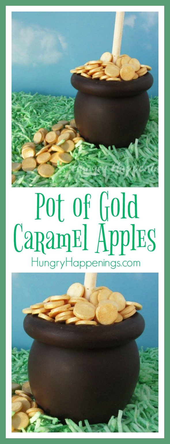 What better treat to make for any occasion than caramel apples! These Pot of Gold Caramel Apples are the perfect dessert to make with your kids for St. Patrick's Day, and who wouldn't want a pot of gold?!
