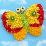 Decorate your fruit pizza to look like a butterfly and really wow your party guests this summer.