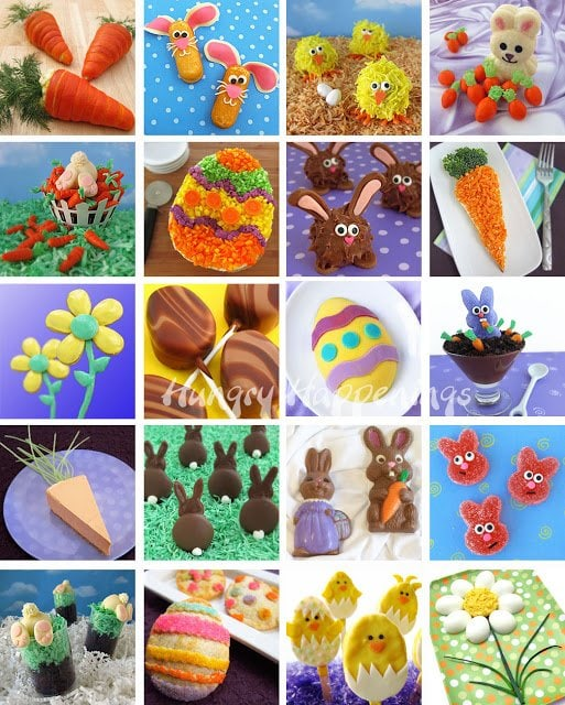 easter food craft ideas chocolate bunny silhouettes hungry happenings easter recipe 4323