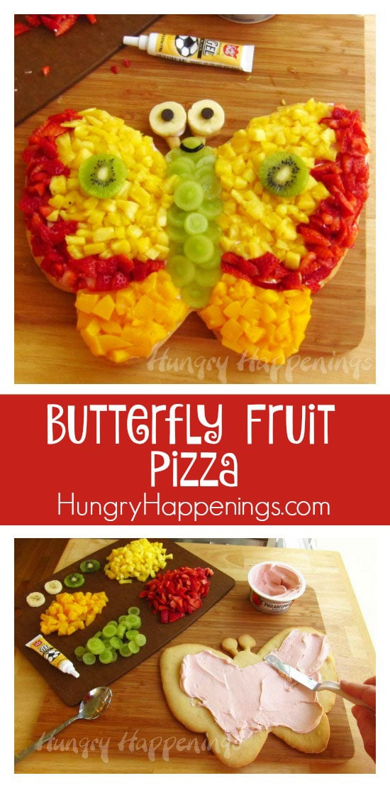 AButterfly Fruit Pizza is a delicious treat for any occasion! This beautiful butterfly is full of tasty flavors and can be made with any of your favorite fruits!