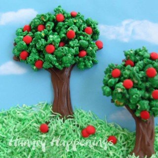 Celebrate Earth Day or Spring by making Chocolate Popcorn Trees