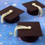 Flourless Chocolate Cakes Graduation Caps Recipe