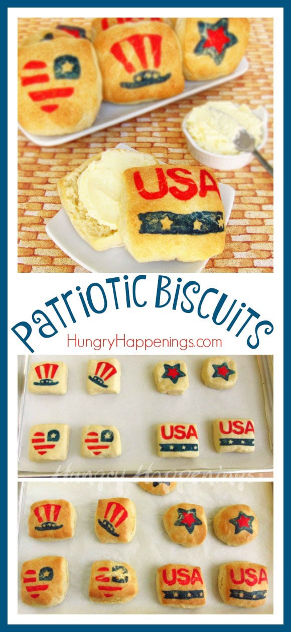 These Patriotic Biscuits are an amazing addition to your Memorial Day, Veterans Day, or 4th of July party! These yummy biscuits will have your guests craving more than you can make!