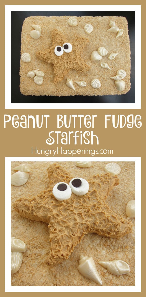 Looking for a beach themed treat to make for your next party? Try making these yummy Peanut Butter Fudge Starfish, they're so simple and creative!