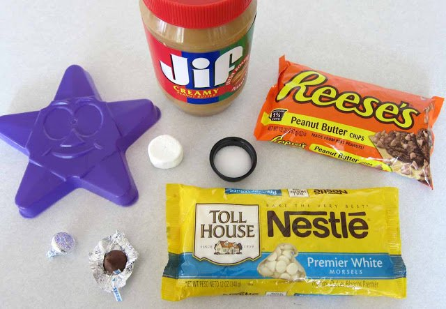ingredients for peanut butter fudge stars