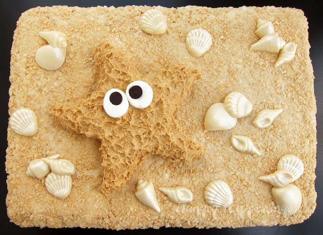Peanut Butter Fudge Starfish treat