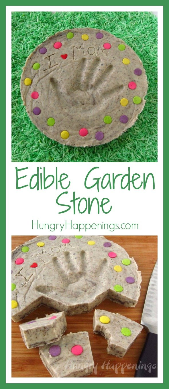 What better gift from your kids for Mother's Day than a Fudge Garden Stone! I don't know about you, but garden stones we a favorite to give as a gift, and this gift gets even better because it's delicious!
