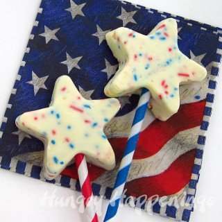 Patriotic Red, White and Blue Fudge Stars for the 4th of July