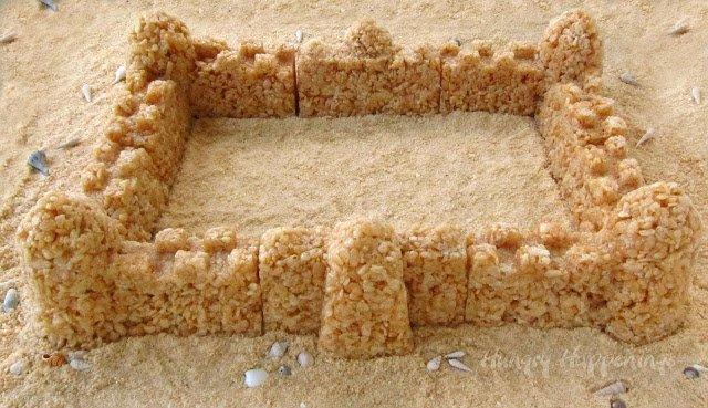 sand castle dessert