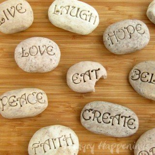 Sweet Serenity Stones – Cookies 'n Cream Fudge Rocks with Inspirational Sayings