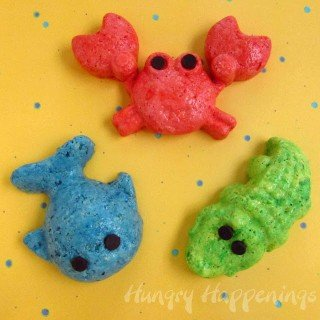Rice Krispie Treat Sea Creatures