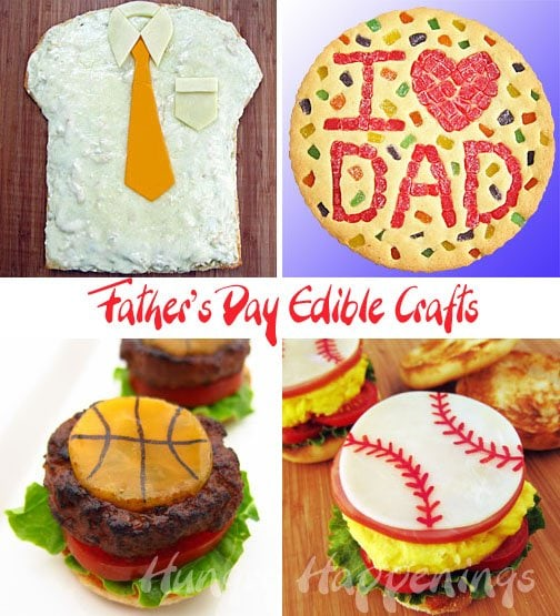 Don't run out of ideas for fathers day treats, these Father's Day Edible Crafts will be sure to make him happy! Surprise him with any treat you think he would like, and decorate them any way you want!