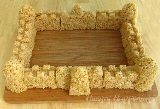 building cereal sand castles