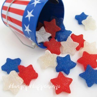 Homemade Red, White, and Blue Gumdrop Stars