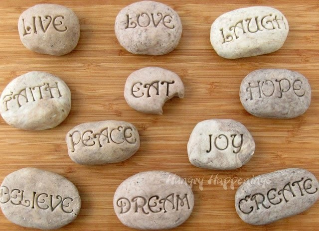 These Sweet Serenity Stones are the perfect treat to make and give to the special people in your life! They are delicious and unique, the best part of any gift you give!