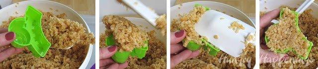 molding rice krispies treats
