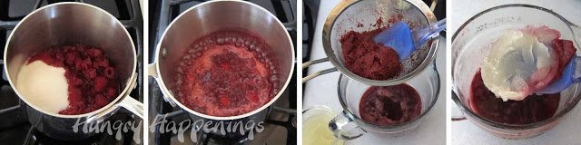 how to make Raspberry Gelée