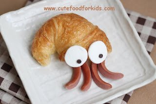 Crescent Roll Squid from Cute Food For Kids