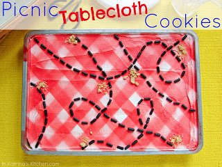 Picnic Tablecloth Cookies from In Katrina's Kitchen