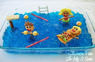 Pool Party Jello Snack from Kitchen Fun with My 3 Sons
