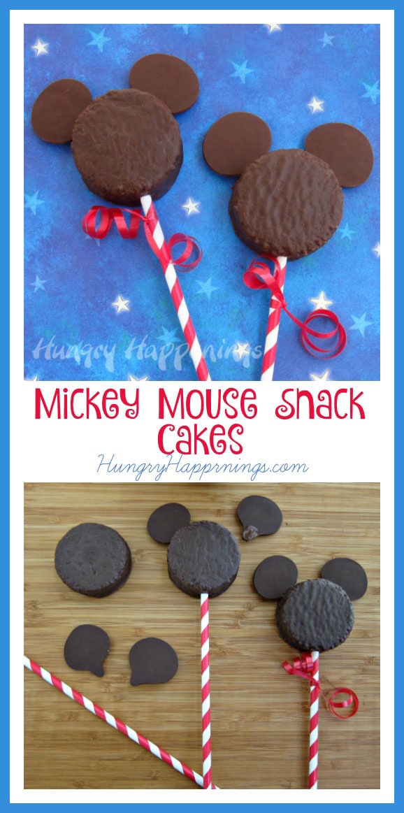 Looking for a simple snack to make for your kids? These Mickey Mouse Snack Cakes are adorable and so easy to make! They'll have your kids ready for a Disney trip in no time.