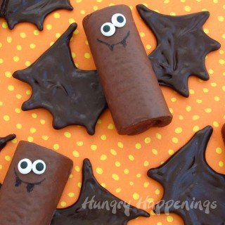 Chocolate Sack Cake Bats