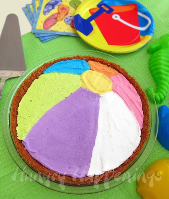 beach ball decorated pie