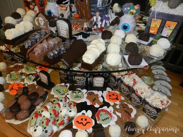 zombie themed Halloween desserts
