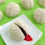 Cake Ball Brains are sure to creep out your friends and family at Halloween but they are really tasty treats.