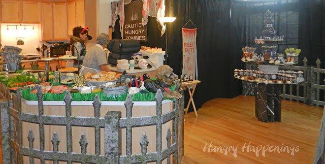 Halloween Food Table Graveyard Theme
