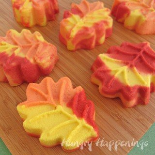 Cheesecake Leaves and Pumpkins in Brilliant Autumn Colors