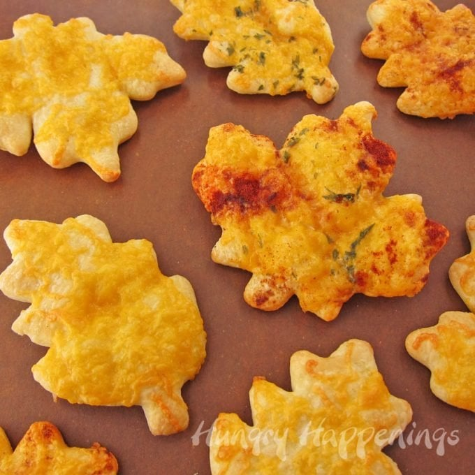 Add a basket of beautifully colorful Cheesy Crescent Roll Leaves to your Thanksgiving dinner table. These pretty fall leaves are simple to make but will surely wow your party guests.