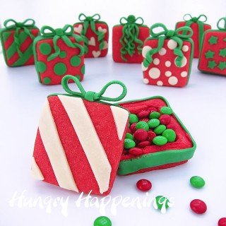 Candy Filled Christmas Present Cookies