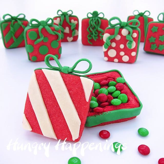 Everyone may not be getting gifts from Santa Claus this year because they are on the naughty list. But these Candy Filled Christmas Present Cookies can be given to everybody.