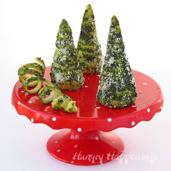 Green Pesto Crescent Roll Christmas Trees