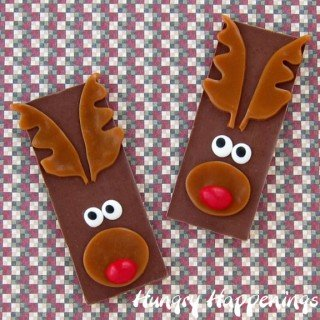Rudolph the Red Nose Reindeer Candy Bars – Edible Christmas Craft